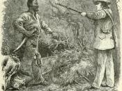 Discovery of Nat Turner: wood engraving illustrating Benjamin Phipps's capture of Nat Turner (1800-1831) on October 30, 1831