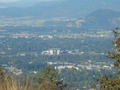 English: View of Autzen Stadium in Eugene, Oregon from Spencer Butte.