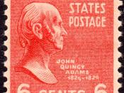 English: US Postage Stamp: John Quincy Adams, Issue of 1938, 6c