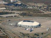 English: An aerial shot of the Texas Stadium in Irving, Texas.
