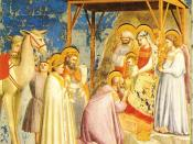 The Adoration of the Magi (circa 1305) by Giotto, purportedly depicting Halley.