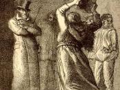Português: Javert é atacado pela Thenardier