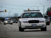 English: Peel Region Police cars in Malton, Canada