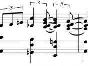 Deutsch: Walking Bass in Tenths in the Stride Piano style of Art Tatums title