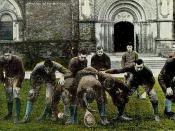 English: Postcard of Toronto Varsity Rugby Team, Champions of Canada.