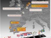 English: Map of the first European corporations and the timeline of their creation Español: Mapa de las primeras corporaciones europeas y la cronología de su creación.