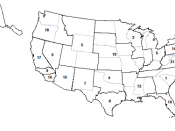 English: Map of 21 DEA field divisions: 1. Atlanta, 2. Boston, 3. Chicago, 4. Dallas, 5. Denver, 6. Detroit, 7. El Paso, 8. Houston, 9. Los Angeles, 10. Miami, 11. Newark, 12. New Orleans, 13. New York, 14. Philadelphia, 15. Phoenix, 16. San Diego, 17. Sa