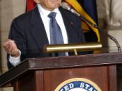 Elie Wiesel writer and spokesman on Holocaust issues addresses the US Congress
