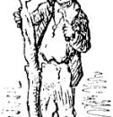 Gepeto Ilustración original de Enrico Mazzanti para la edición de 1883 de Storia di un burattino.