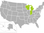 Michigan Intercollegiate Athletic Association locations
