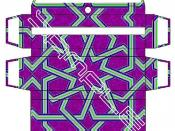 Geometric Purple 4 map