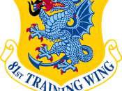 Emblem of the 81st Training Wing, a wing of the United States Air Force