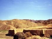 Iran désert, enclos