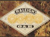 Cigar, smoking tobacco, cut tobacco, cigarettes, Raleigh O&R [front]