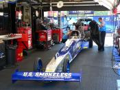 Larry Dixon (drag racer)'s 2008 Top Fuel Dragster right before race time.