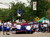 2008 Bud Billiken Parade, Chicago. High School anti-violence group.
