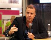 English: Swedish writer and archaeologist Jonathan_Lindström at Göteborg Book Fair 2011.