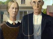 English: This is one of the digitized images of the original painting American Gothic that Grant DeVolson Wood, a master artist of the twentieth century, created in 1930 and sold to the Art Institute of Chicago in November of the same year.