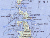 Map of Chichi-jima, Ani-jima and Otouto-jima