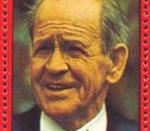 Sepp Herberger, coach of the German national football team (1936–1942, 1950–1964), on a Paraguayan stamp.