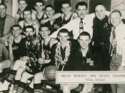 English: 1954 Indiana High School Basketball Champions, Milan High School of Milan, Indiana