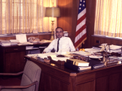 English: This is a 1970 image of Dr. David Sencer, former Dir. of the Centers for Disease Control and Prevention from 1966 through 1977. The CDC serves as the national focus for developing and applying disease prevention and control, environmental health,