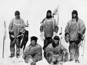 Expedición de Robert Falcon Scott en el Polo Sur (Antártida, 1912)