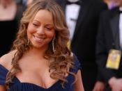 Mariah Carey during red carpet interviews at the 82nd Academy Awards.
