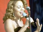 Mariah Carey at Edwards Air Force Base during the making of I Still Believe video in 1998.