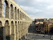 English: Aqueduct in Segovia, Spain Español: Acueducto de Segovia, España Deutsch: Aquädukt von Segovia (Spanien)