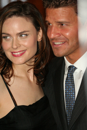 Emily Deschanel & David Boreanaz at Farm Sancutary Gala 2006.