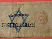 WARSAW GHETTO, POLAND ---JEWISH GHETTO POLICE ARM BAND EARLY 1940's