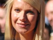 Gwyneth Paltrow at a ceremony to receive her Hollywood Walk of Fame Star, 2010.