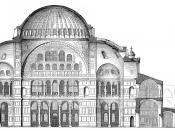 Cross-section of Hagia Sophia, reconstruction