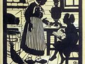 English: Soviet propaganda poster by Elizaveta Kruglikova advocating female literacy. The top section reads: