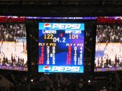Kobe Bryant of the Los Angeles Lakers scores 81 points against visiting Toronto Raptors