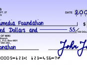 Cheque sample for a fictional bank in Canada. May also apply for the United States. Created by Sergio Ortega based on real cheque standards. Note: U.S. checks are the same except for the MICR format, which is slightly different, and the issue date which i