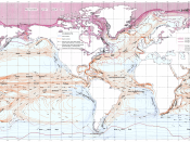Re-colored (for readability by color blind persons) version of Ocean Currents and Sea Ice from Atlas of World Maps, United States Army Service Forces, Army Specialized Training Division. Army Service Forces Manual M-101 (1943).