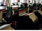 English: Weaving machine (Brandname Draper) in The American Textile Museum (Lowell, Mass. USA) - Be careful! The title of this image is not correct! Deutsch: Webmaschine (Marke Draper) im American Textile Museum in Lowell, Massachusetts (USA) - Achtung! D