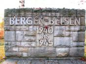 The entrance to Bergen-Belsen