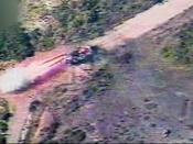 May 28, 2006 Aerial footage showing Israeli forces targeting a Hezbollah vehicle that fired Katyusha rockets at Israel's home front.