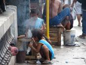 Street children in Cebu (Philippines).