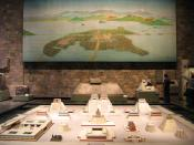 English: Reconstruction of Tenochtitlan, the capital of the Aztecs - the centre of modern Mexico City. (National Museum of Anthropology of Mexico City)
