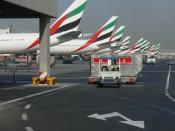 English: This is a photo showing airplanes from Emirates Airline at Dubai International Airport in Dubai, United Arab Emirates on 23 September 2007.