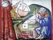 English: Westerner_and_Arab_practicing_geometry_15th_century_manuscript.