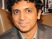 English: M. Night Shyamalan announcing The Happening at a press conference