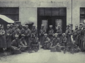 English: Bolshevik troops during the Russian Revolution. Español: Tropas bolcheviques durante la reovlución.