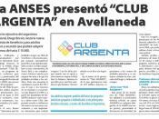 "La ANSES presentó ""CLUB ARGENTA"" en Avellaneda"