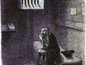 Fagin waits to be hanged.