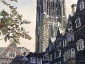 Cleveland Tower, Princeton University, Old Graduate College with a 67‐bell carillon.